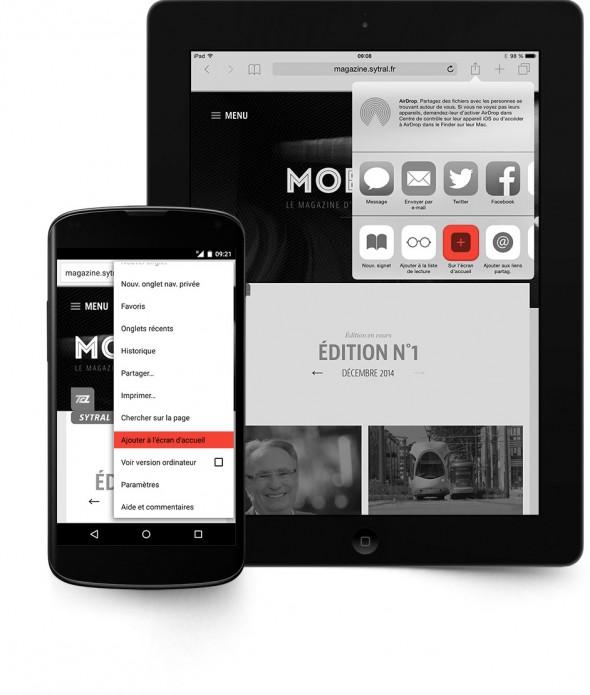 Favoris sur iPad et Android